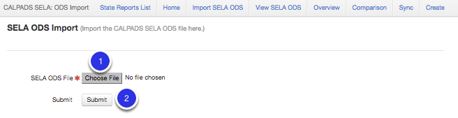 Import SELA ODS Data