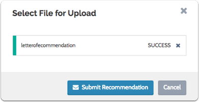 """Click """"Submit Recommendation"""""""