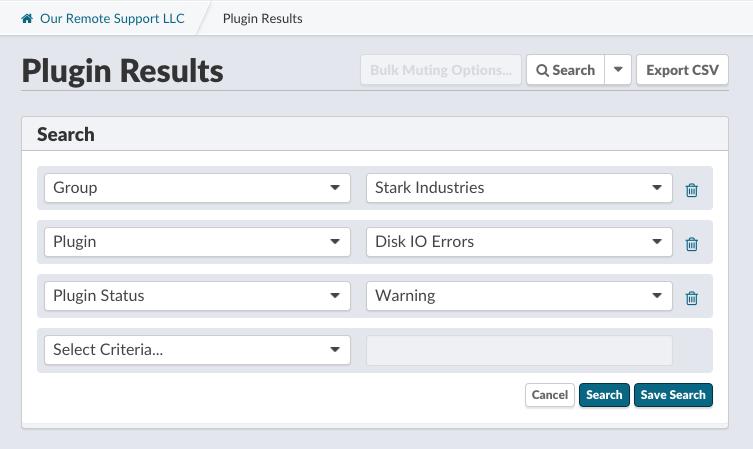 Searching Plugins