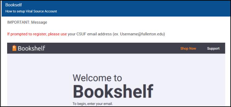 CSUF VitalSource registation instructions.