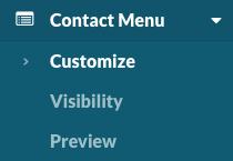 Contact Menu > Customize