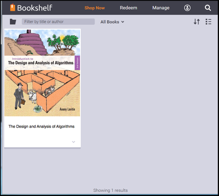 Your CSUF VitalSource Bookshelf.