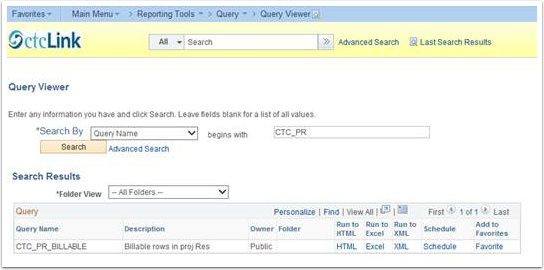 Queriy Viewer Search Results