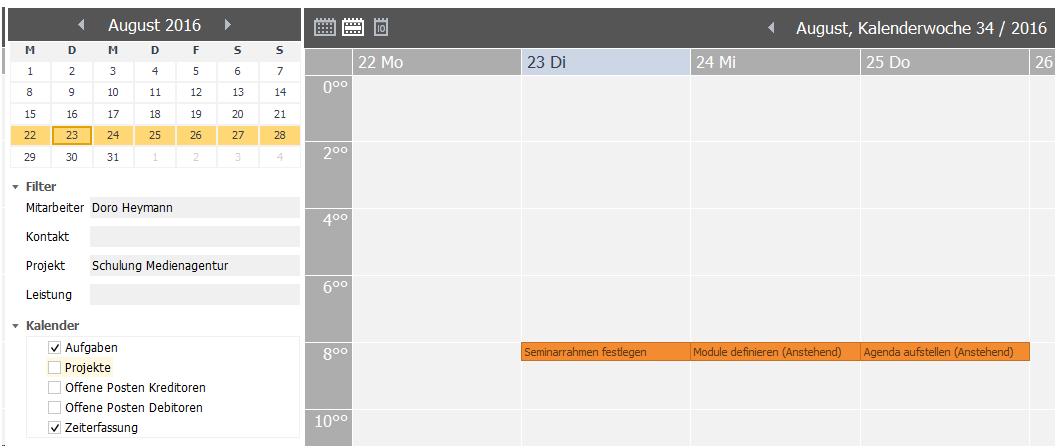 Scopevisio-Aufgabenkalender