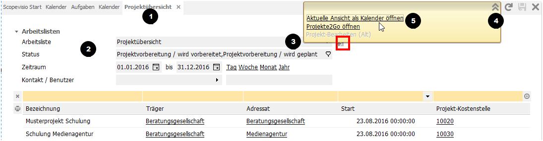 Projektkalender erstellen