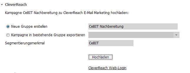 Export zu CleverReach
