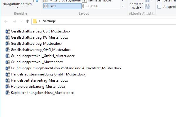 Upload der Dateien
