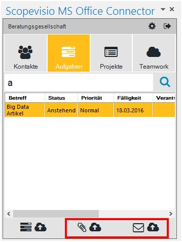 E-Mails zu Aufgaben oder Projekten zuordnen