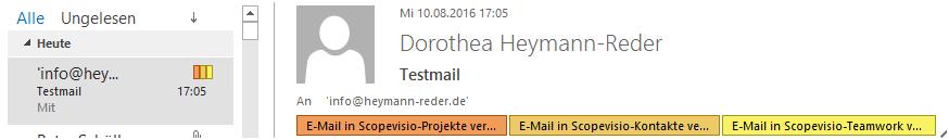 E-Mails werden in Outlook markiert