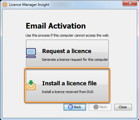 Install the licence file