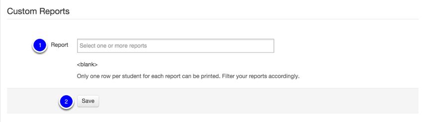 Custom Reports