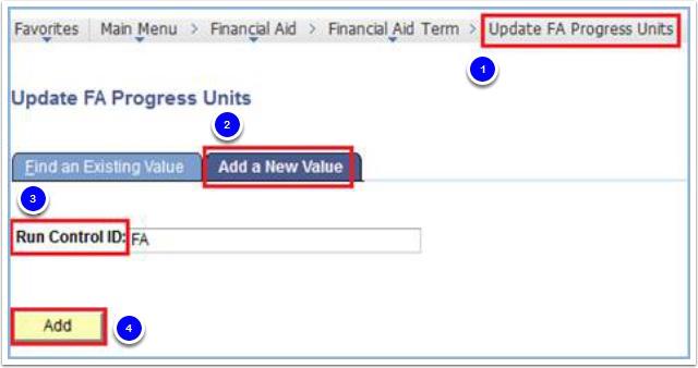 Update FA Progress Units - Add a New Value tab
