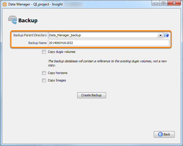 Define the backup directory