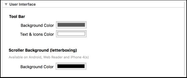 4. User interface