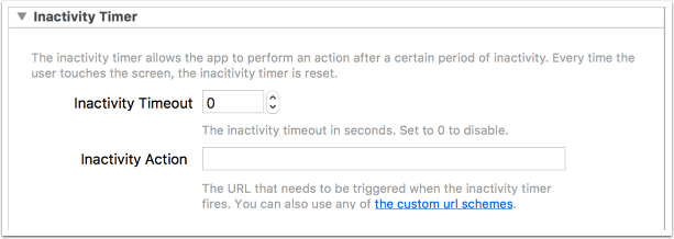 5. Inactivity Timer
