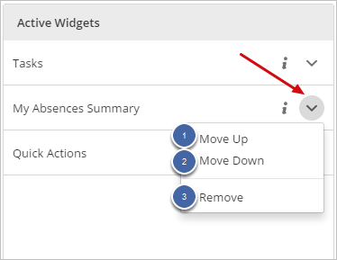 Moving and Removing Widgets