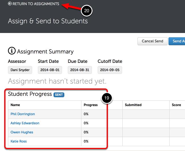 Step 7: Student Progress