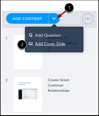 Ajouter une diapositive de couverture