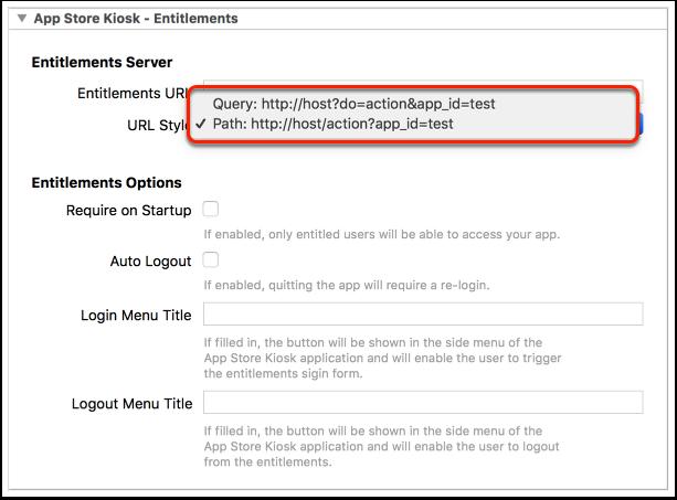 Entitlements Server URLs issue-based