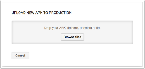 Uploading your first APK file