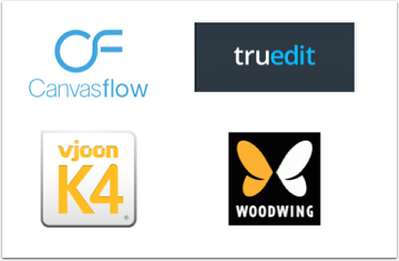Canvasflow, Truedit, Vjoon K4, Woodwing
