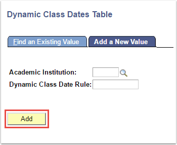 Dynamic Class Dates Table - Add a New Value