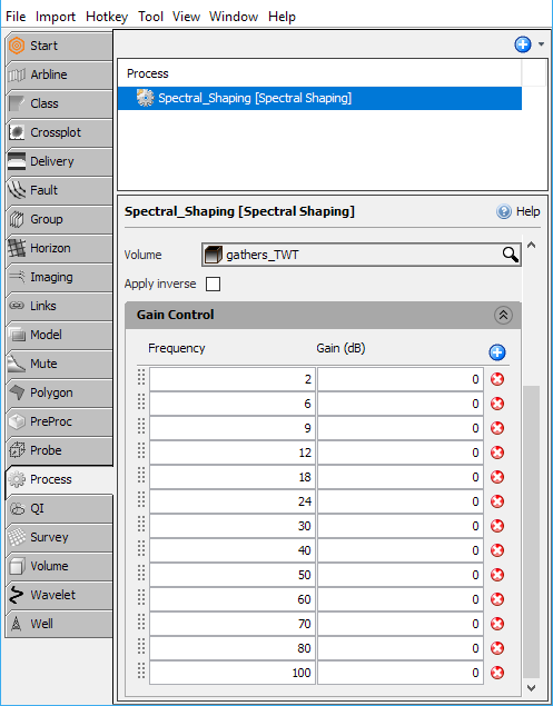 Define spectral decomposition settings