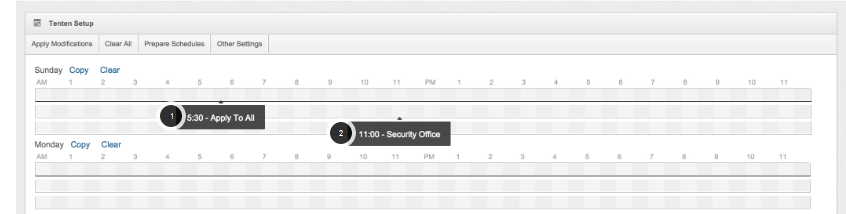 Overview of the Lone Worker Schedule Grid