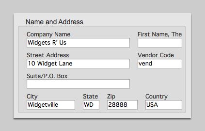 Name and Address