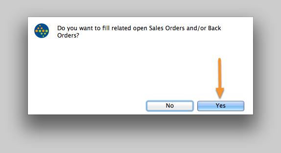 Fill Sales Orders/Back Orders?