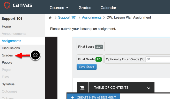 Step 11: View Assessment Results in Canvas