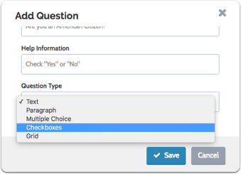Select a question type