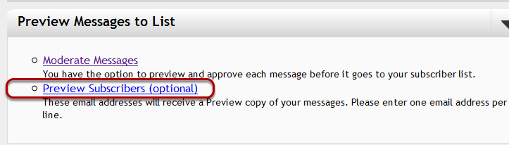 "In your mail-list account, please click on ""Preview Subscribers"" under ""Customize Your List"":"
