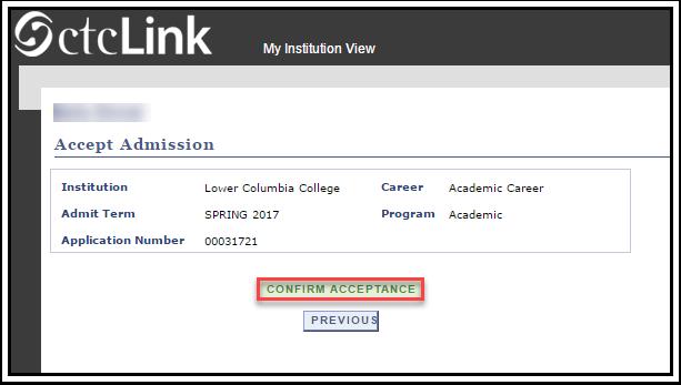Confirm Acceptance link