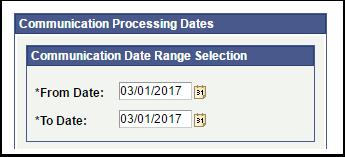 Communication Processing Dates