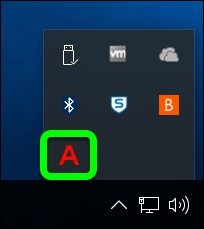 Look for the Red 'A' in your taskbar