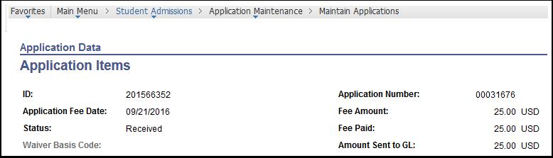 Application Data - Application Items
