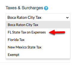 3. Select the Tax Rule you want to apply.