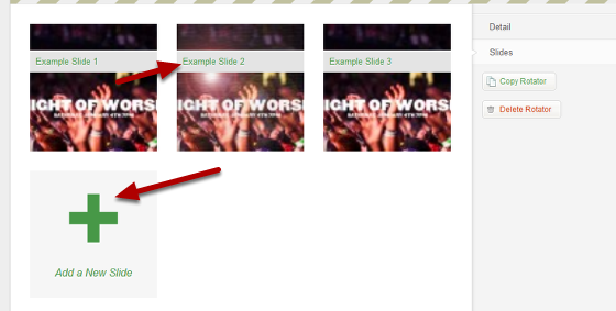 Editing the Home Page Rotator (Step 2 of 3)