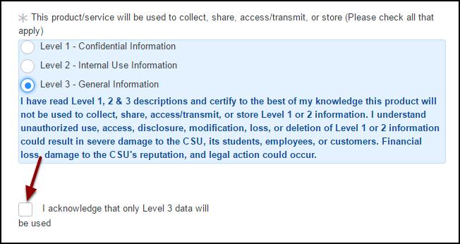 acknowledge level 3