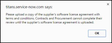 software license agreement pop up