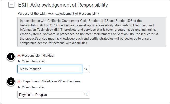 E&IT Acknowlegement of Responsibility