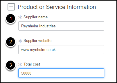 Product or Service Information