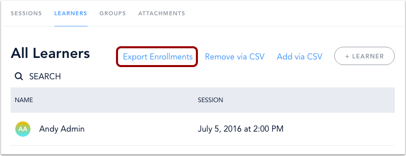 Export Enrollments