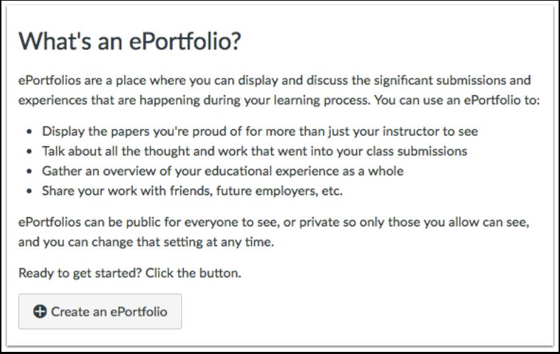 När kan jag använda ePortföljer?