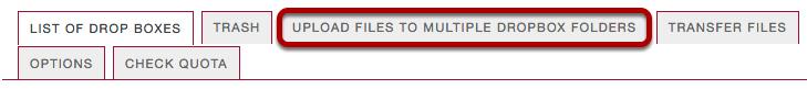 "Select ""Upload files to multiple dropbox folders""."
