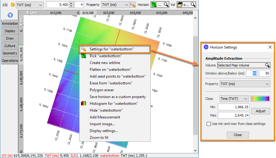Horizon context menu in Map View