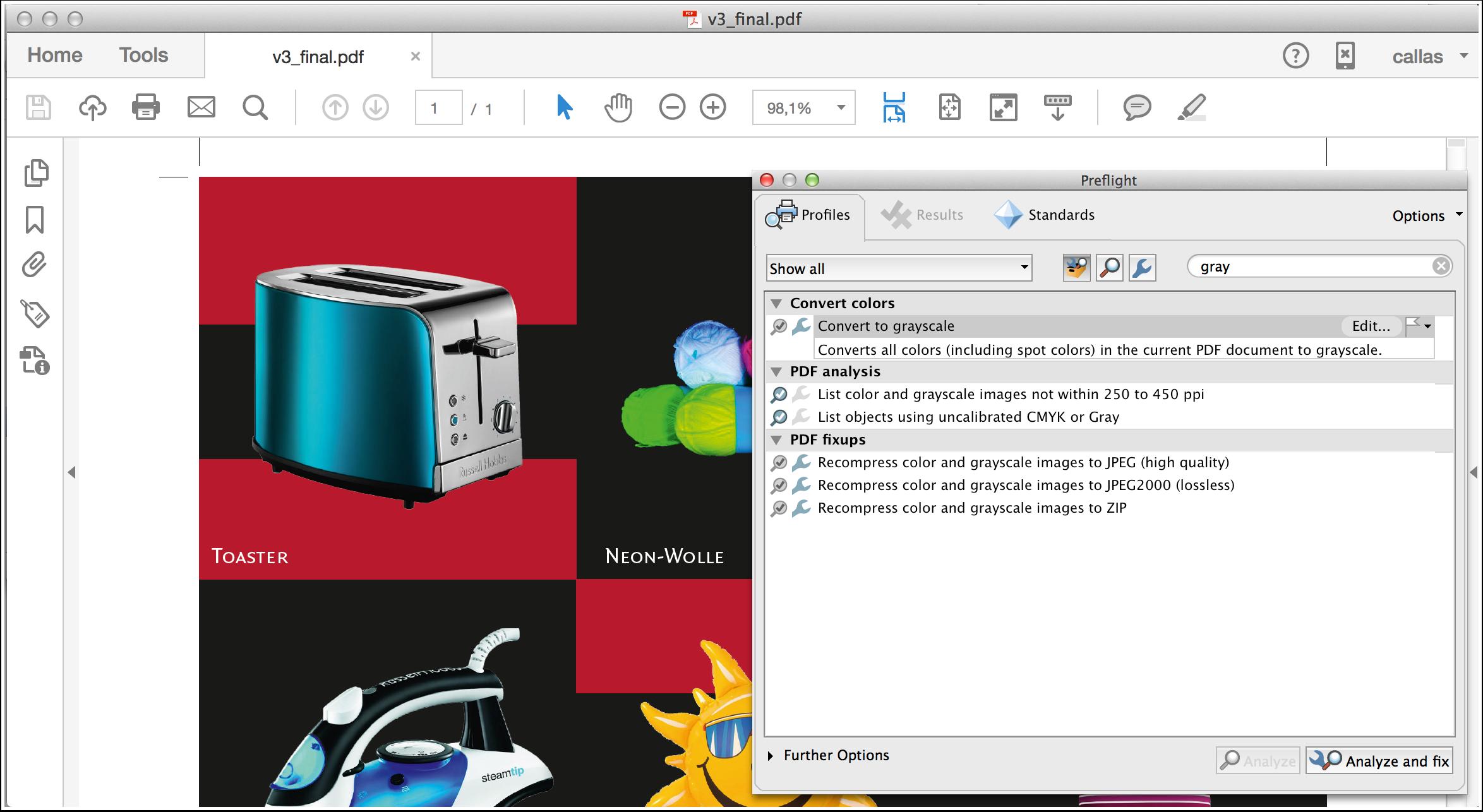 Process a PDF