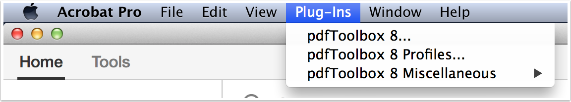 pdfToolbox as an Acrobat Pro Plug-In