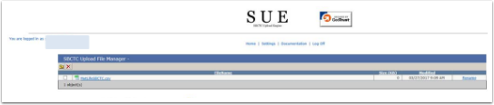 SBCTC Upload File Manager section